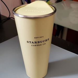 16oz Starbucks Pastel Yellow Stainless Tumbler